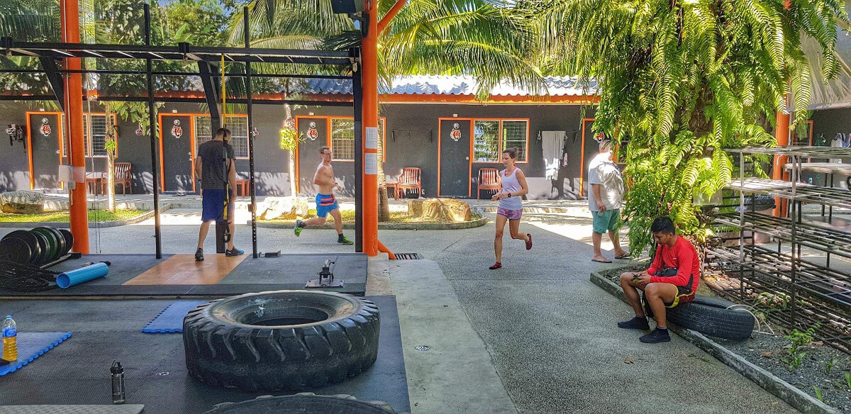 Fitness-Training bei 35 Grad...