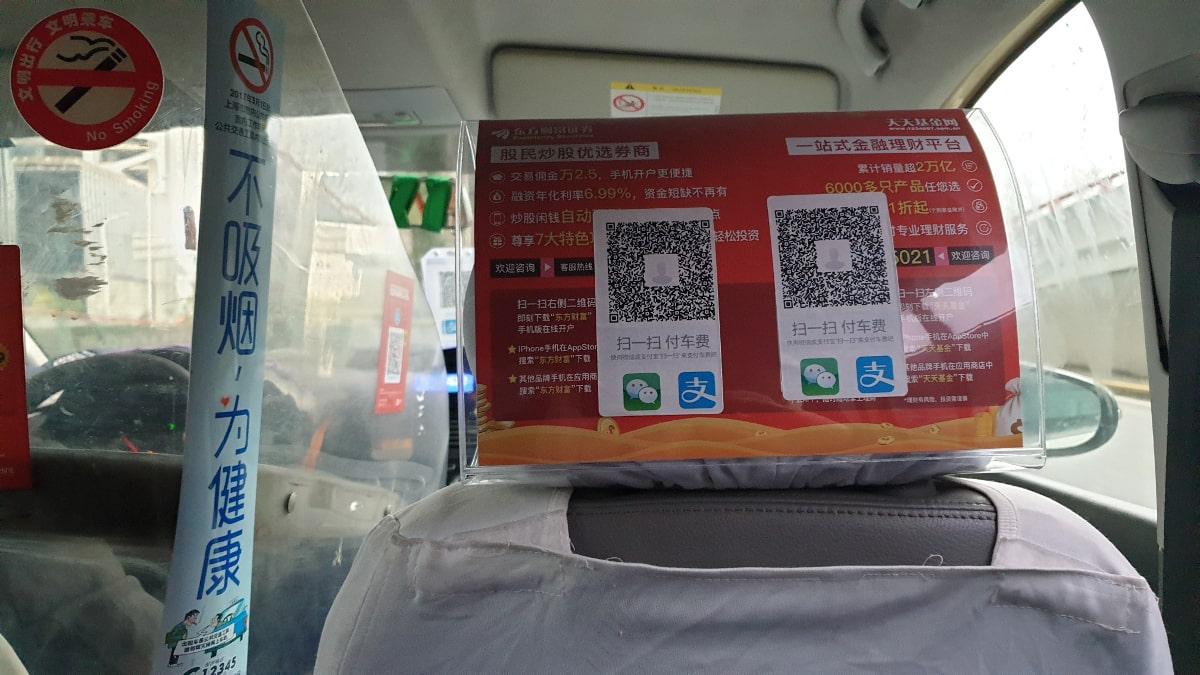 Taxi bezahlen mit WeChat