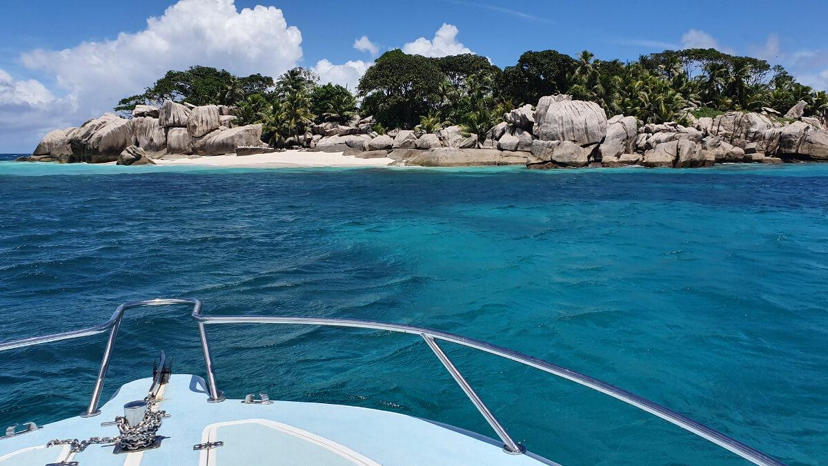 Anfahrt auf Cocos Island Seychellen