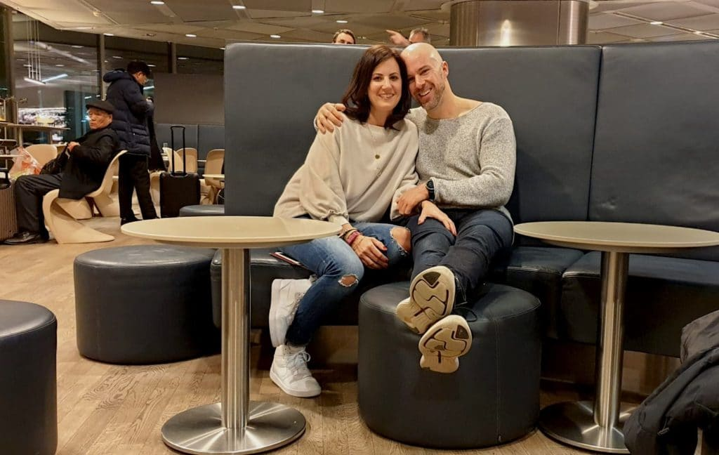 Die Business Class Lounge am Frankfurter Flughafen.