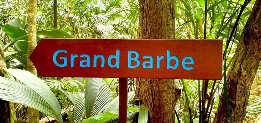 Beschilderung Grand Barbe